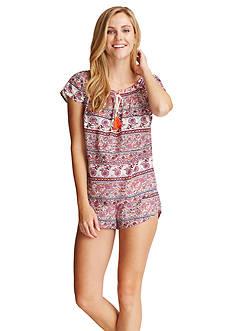 Lucky Brand Tassel Shortie Pajama Set