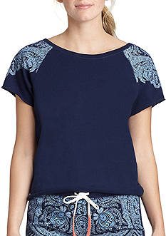 Lucky Brand Scroll Shoulder Tee