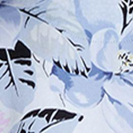 Pajamas for Women: Brimfield Blue Echo Printed Woven Shortie Pajama Set