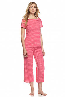 kate spade new york Pink Dot Bow Pajama Set