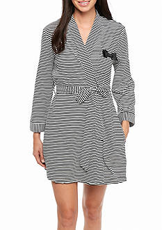 kate spade new york Black Stripe Robe