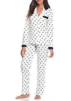 kate spade new york Heart Print Pajama Set