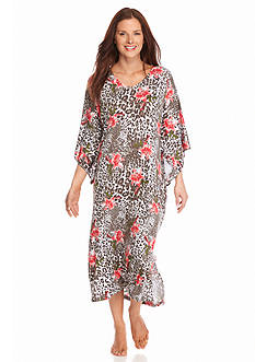 New Directions Intimates Classic Printed Caftan
