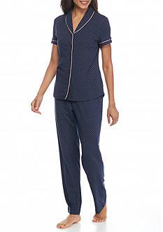 Nautica Short Sleeve Dot Pajama Set