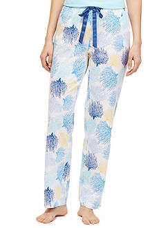 Nautica Plus Size Coral Print Pants