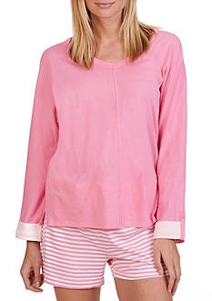 Nautica Three Quarter Sleeve Top
