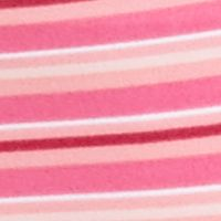 Women's Plus: High Cut Sale: Hot Magenta Stripe Warner's No Pinching - No Problems® High-Cut Panty