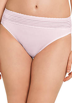 Warner's No Pinching. No Problems. Lace Cotton Hi Cut Brief - RT2091P