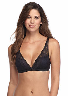 Maidenform Fit to Flirt Plunge Wire-free Satin and Lace Bra - DM7962