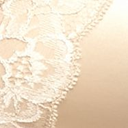 Average Figure Bra: Latte/Ivory Maidenform Fit and Flare Plunge Wirefree Satin and Lace Bra - DM7962