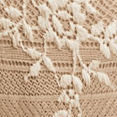 Plus Size Panties: Naturally Nude/Ivory Wacoal Embrace Lace Thong - 842191