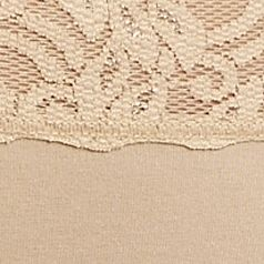 Boxer Briefs for Women: Natural Nude Wacoal Cotton Suede Brief - 875235