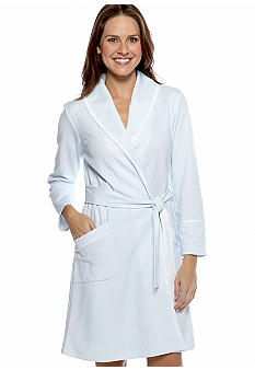 Carole Hochman Striped Short Robe