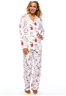 Carole Hochman New Year's Resolution Pajama Set