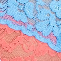 Women: Panties Sale: Sorbet/Blue New Directions Intimates V-Lace Thong - 16J113
