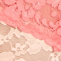 Women: Panties Sale: Peach/Sorbet New Directions Intimates V-Lace Thong - 16J113
