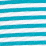 Seamless Underwear for Women: Turquoise Island/White Stripe New Directions Intimates Seamless Hipster