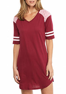 PJ Couture Cherry Athletic Stripe Sleep Shirt