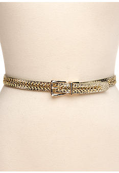 Nine West Reversible Snake Chain Belt