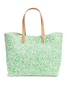 Kim Rogers Printer Paper Straw Tote