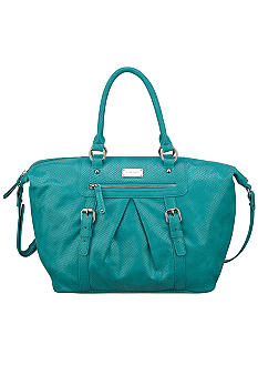 Nine West Snake Charmer Large Pleated Satchel