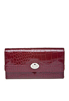 New Directions Cactus Croco Filemaster Clutch