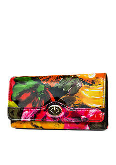 New Directions Bright Floral Filemaster Wallet with Safekeeper