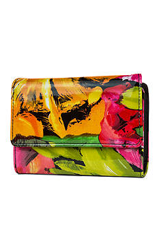 New Directions Bright Floral Amsterdam Wallet with Safekeeper