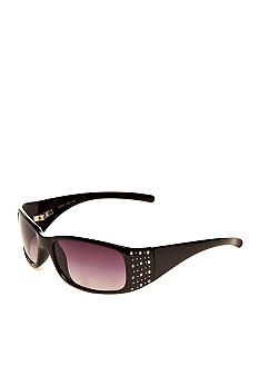 New Directions Small Oval Sunglasses with Stones