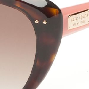 Womens Sunglasses: Tortoise/Pink kate spade new york Angelique Sunglasses