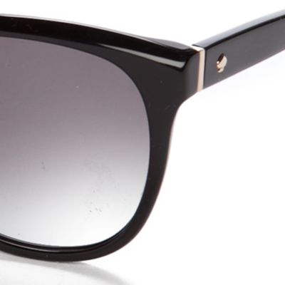 Retro Sunglasses: Black kate spade new york Bayleigh Sunglasses