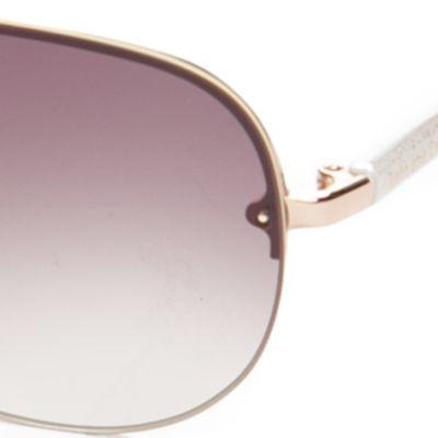 Aviator Sunglasses: Gold/White kate spade new york Beryl Sunglasses