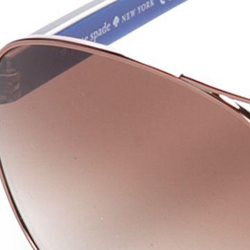 Aviator Sunglasses: Gold/ Blue Print kate spade new york Dalia Sunglasses