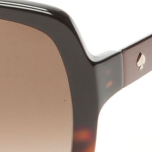 Square Sunglasses: Black/Tortoise kate spade new york Darilynn Sunglass