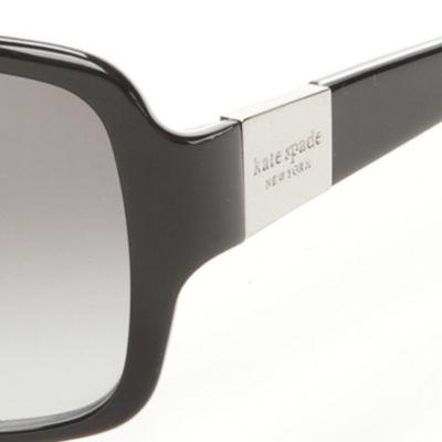 Womens Sunglasses: Black kate spade new york Lulu Sunglasses