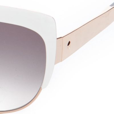 Cat Eye Sunglasses: White kate spade new york Raelyn Sunglasses