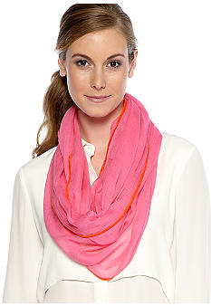 Echo Loop Scarf with Accent Hem