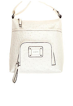 Rosetti Mini Rebecca Triple Play Ostrich Crossbody Bag