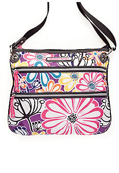 Lily Bloom Mid Size Zipper Cross-Body Bag
