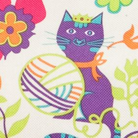 Lily Bloom Bags and Accessories: Feline Fun Lily Bloom Ferris Four Poster Shoulder Bag