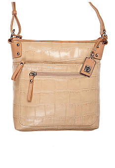 New Directions Matte Croco Crossbody