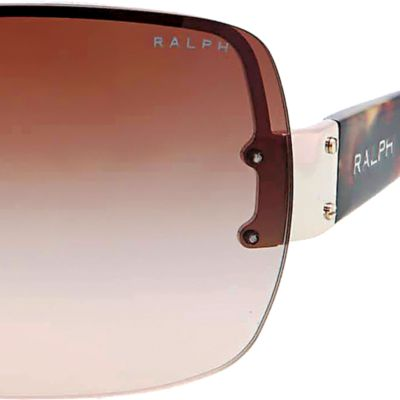 Ralph by Ralph Lauren: Spotted Tortoise Ralph by Ralph Lauren Shield Sunglasses