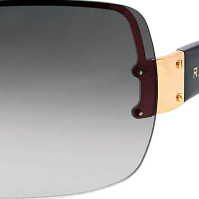 Ralph by Ralph Lauren: Gold/Black/Maroon Ralph by Ralph Lauren Shield Sunglasses