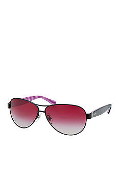 Ralph by Ralph Lauren Feminine Double Bar Aviator Sunglasses