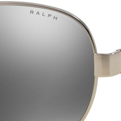 Ralph by Ralph Lauren: Black Ralph by Ralph Lauren Logo Aviator Sunglasses