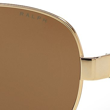 Womens Sunglasses: Silver Ralph by Ralph Lauren Logo Aviator Sunglasses