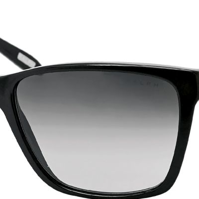 Women: Ralph By Ralph Lauren Accessories: Black Ralph by Ralph Lauren Large Retro Sunglasses