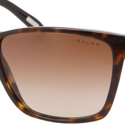 Women: Ralph By Ralph Lauren Accessories: Spot Tortoise Ralph by Ralph Lauren Large Retro Sunglasses