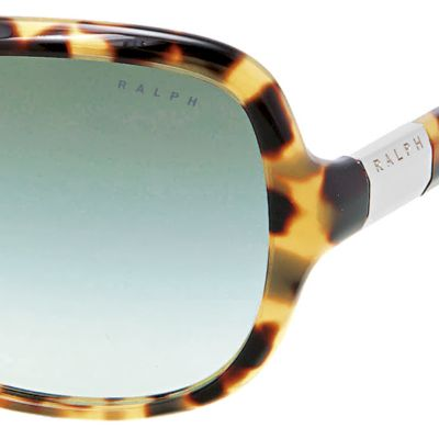 Women: Ralph By Ralph Lauren Accessories: Spotty Tortoise Ralph by Ralph Lauren Thin Frame Rectangle Sunglasses