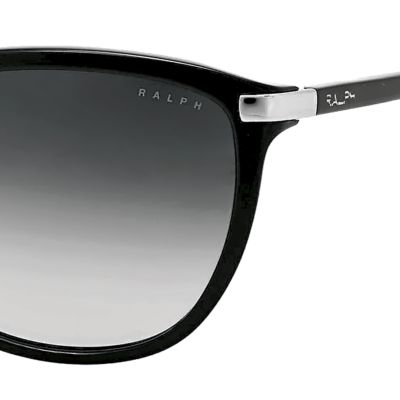 Women: Ralph By Ralph Lauren Accessories: Black Ralph by Ralph Lauren Plastic Cateye Sunglasses